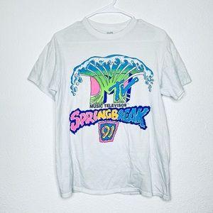 MTV Spring Break '91 Beach Wave Graphic Tee